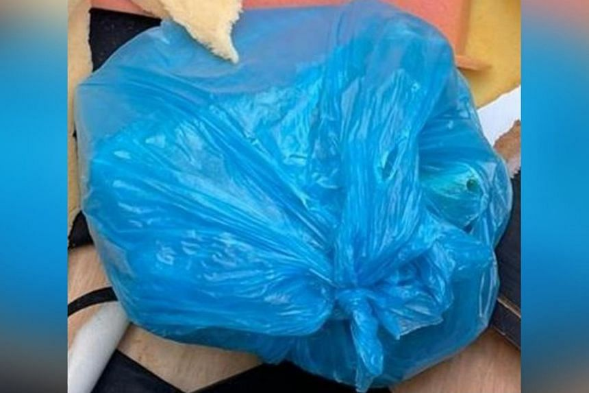 Illicit drugs in a plastic bag recovered near Edgefield Plains on March 29.