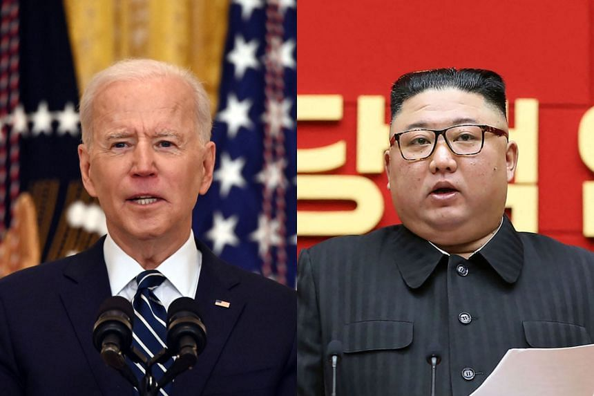 US President Joe Biden (left) said the US remained open to diplomacy with North Korea despite the tests.