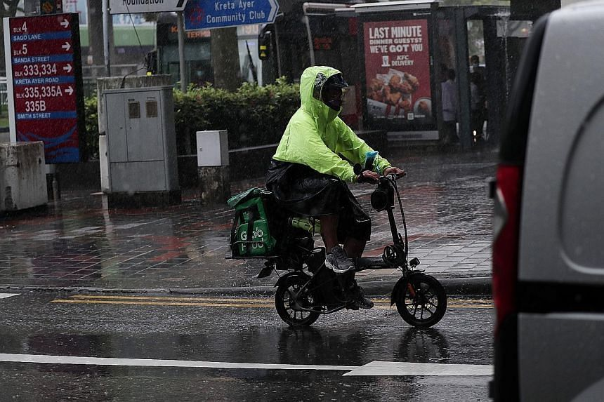 The writer says that while it can be unsafe for pedestrians to share footpaths with delivery riders, it is even more dangerous for riders to share road space with vehicles.