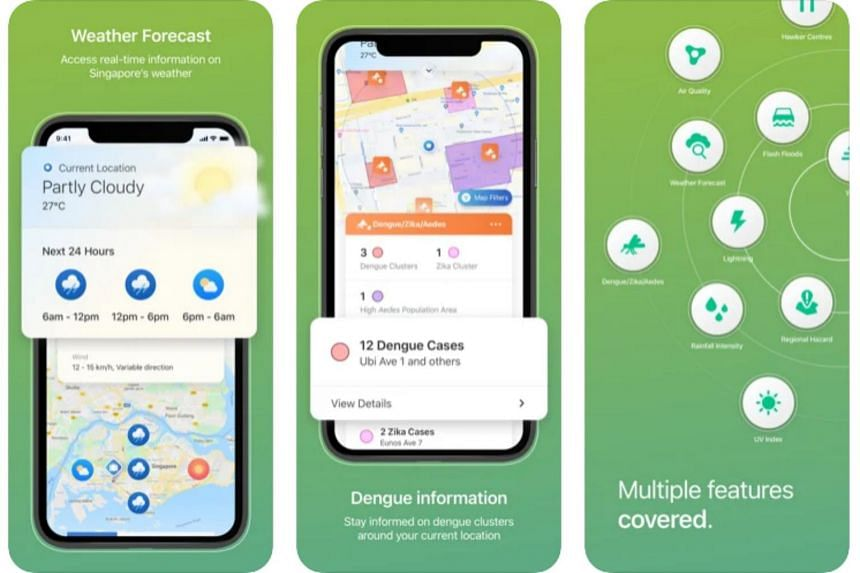 Local weather and dengue hot spots are among the features that users can call up in the updated app.