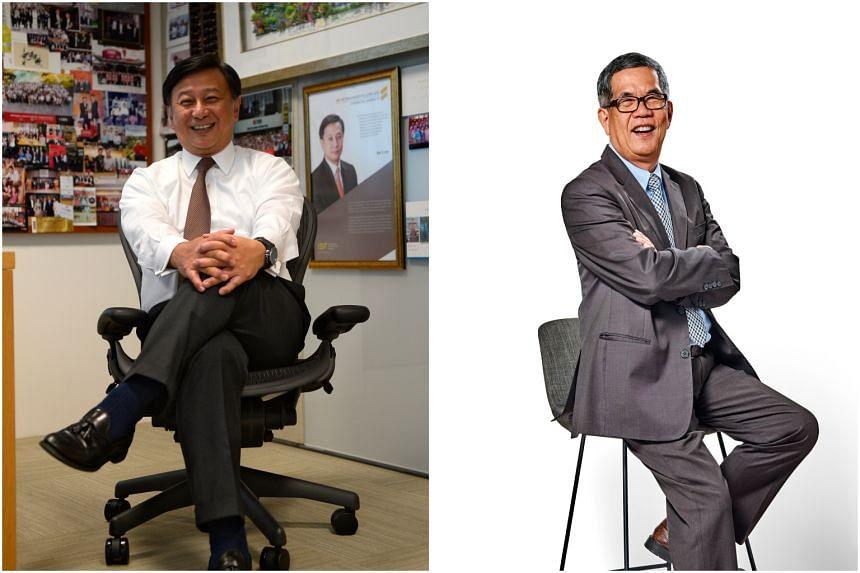 Mr Lim Sim Seng (left) will be the new chairman of BCA, and Professor Tan Thiam Soon the new deputy chairman.