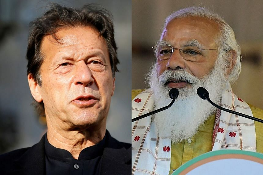 Modi (right) had written to Khan (left) on the occasion of Pakistan's Republic Day on March 23, seeking peaceful relations
