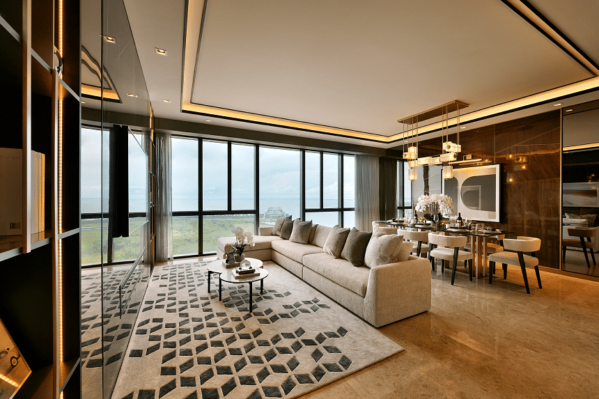 """One of the bigger rooms at Marina One Residences, which blends sustainability into """"low lifestyle cost and carbon footprint"""" location in Singapore's Marina Bay financial district."""