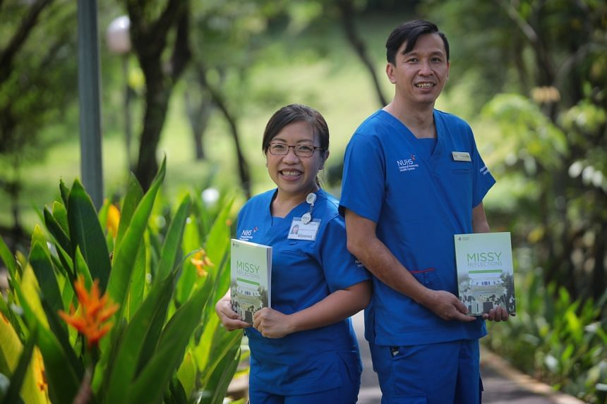 Chief nurse Margaret Lee (left) and nurse manager Kelvin Chong.
