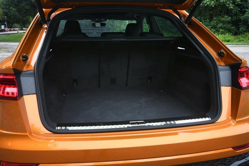 The boot space on the Audi RS Q8.