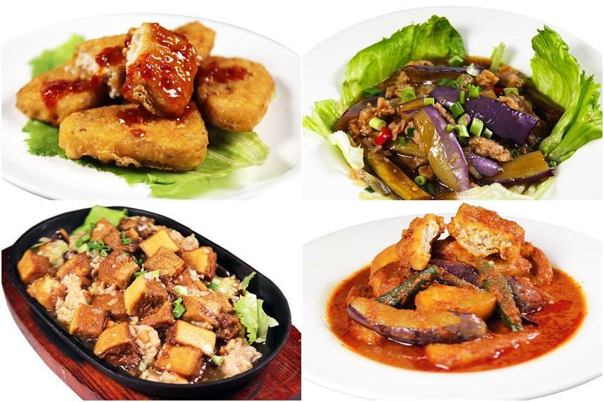 Gu Ma Jia has created vegan options using Gardein, Heura, OmniMeat and Beyond Meat.