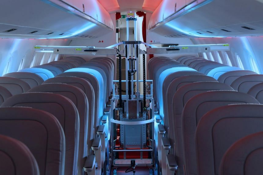 One robot can disinfect a single-aisled plane in 13 minutes, start to finish, though larger planes take longer.