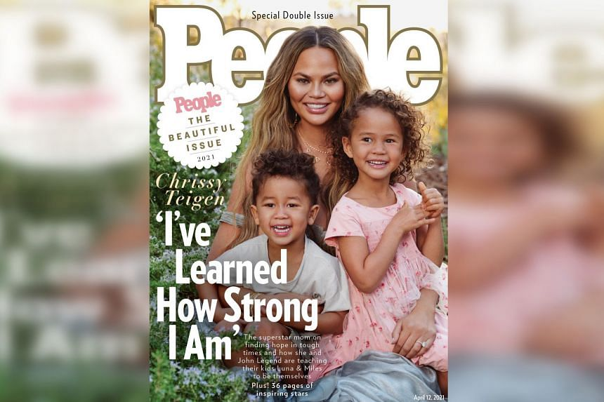 Chrissy Teigen says her definition of beauty has changed since she became a mother to children Luna, four, and Miles, two.