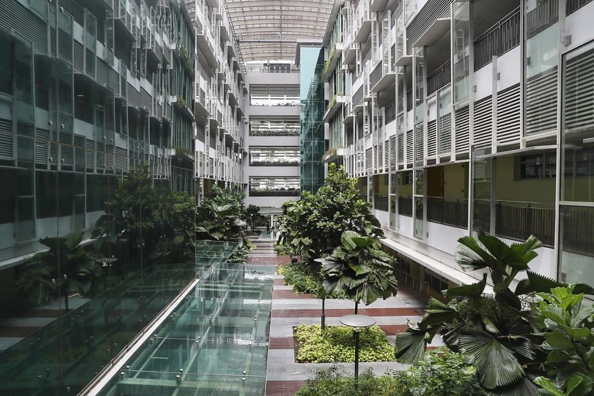CleanTech One is listed as a Green Mark Platinum building, the highest rating classification in Singapore's green building certification scheme.