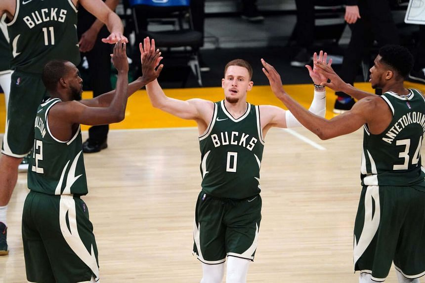 Giannis Antetokounmpo finished with 25 points and 10 rebounds and Khris Middleton added 17 points and eight assists.