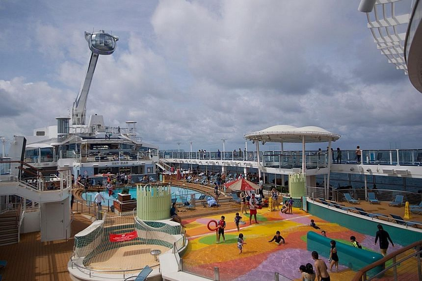 Passengers on Royal Caribbean's Quantum of the Seas ship last December. When asked whether the capacity of its cruises may be increased from the current 50 per cent, Royal Caribbean International said it is hopeful that sailing passenger capacity wil
