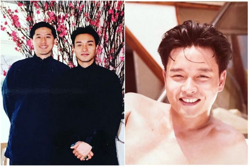 """Leslie Cheung's partner, Daffy Tong, posted a photo of him on a yacht, with the caption: """"Miss you""""."""
