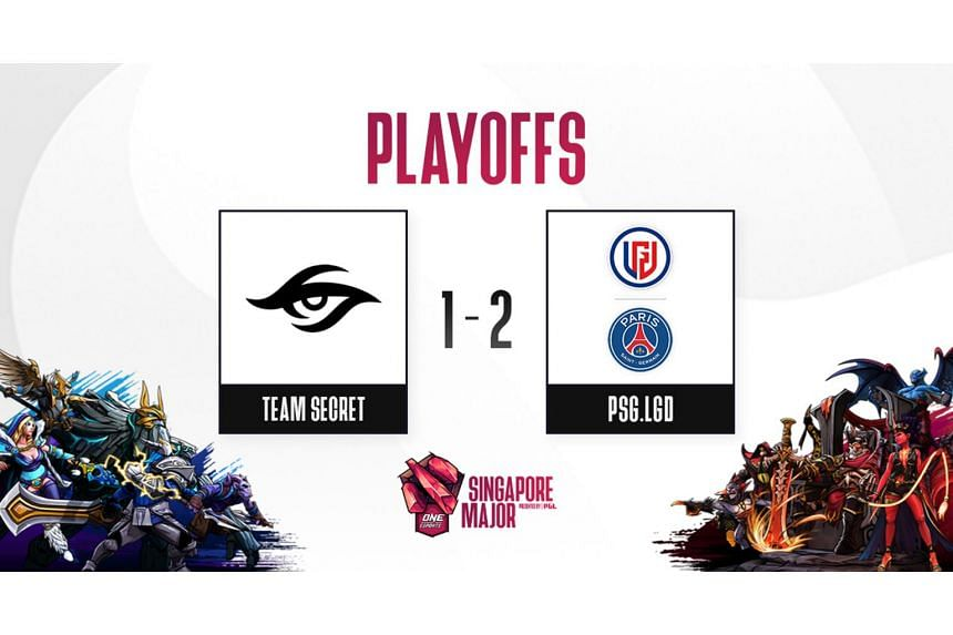 PSG.LGD stunned Team Secret with a 2-1 win over the European team in the One Esports Dota 2 Singapore Major.