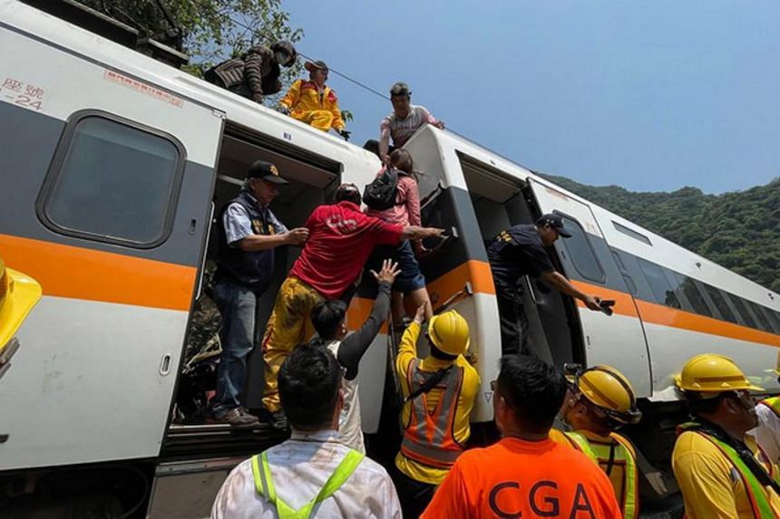 Between 80 and 100 people were evacuated from the first four carriages of the train.