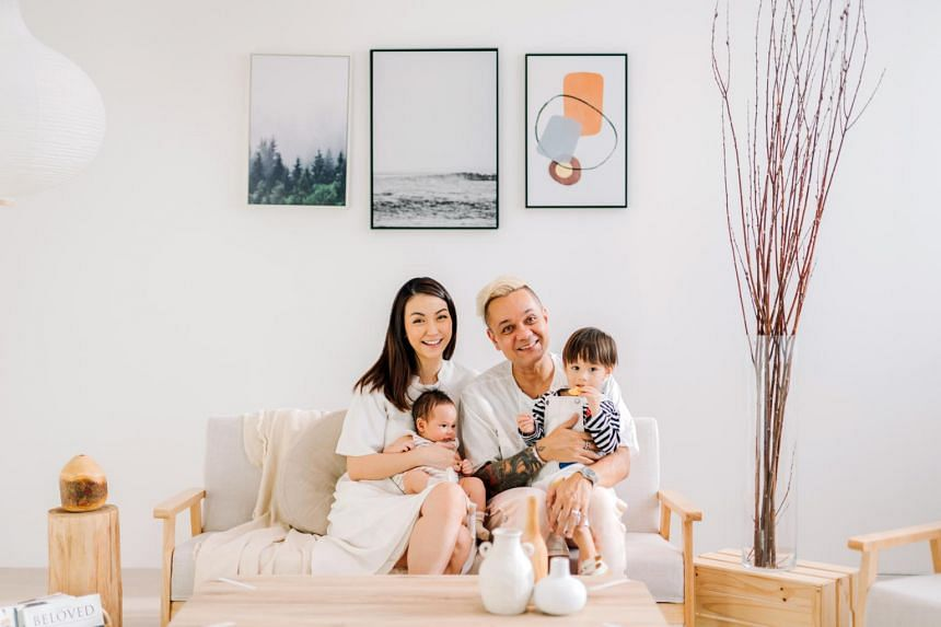 Radio personality Vernon A (right) and his wife Jayne Tham have a two-year-old boy Liam. They welcomed their second child Niall last November.