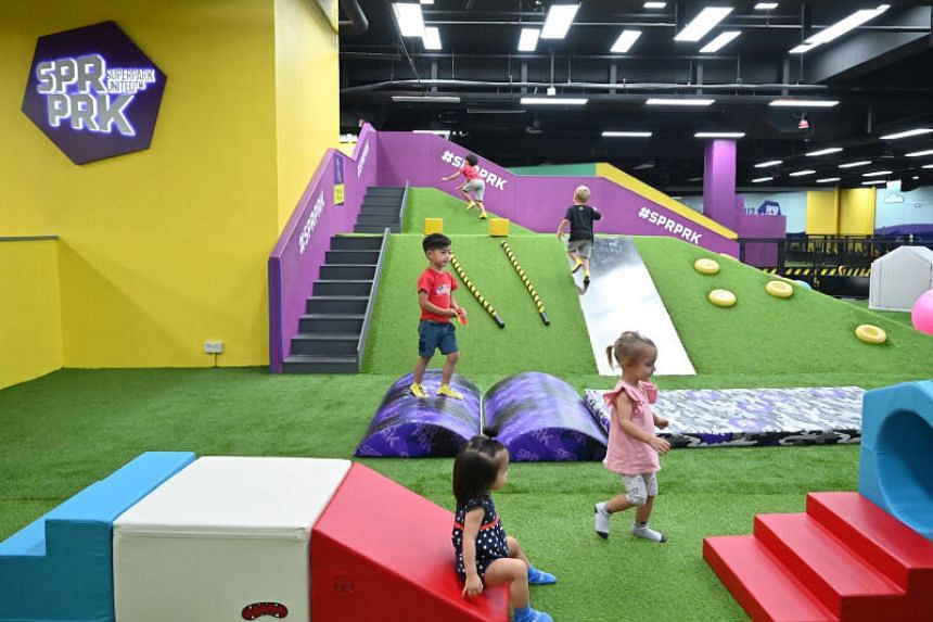 The indoor activity park offers new additions like an expanded Kids' Gym with a soft play obstacle course.