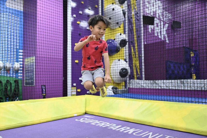 Play sessions at the reopened SuperPark Singapore will be limited to two hours.