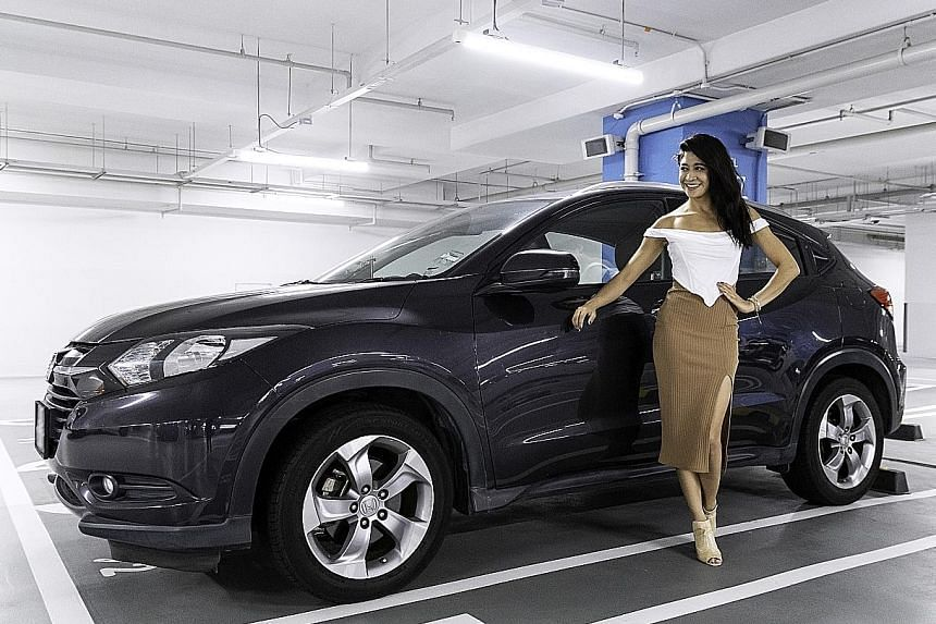 Actress Munah Bagharib uses her Honda HR-V as a mobile wardrobe and to transport video equipment.