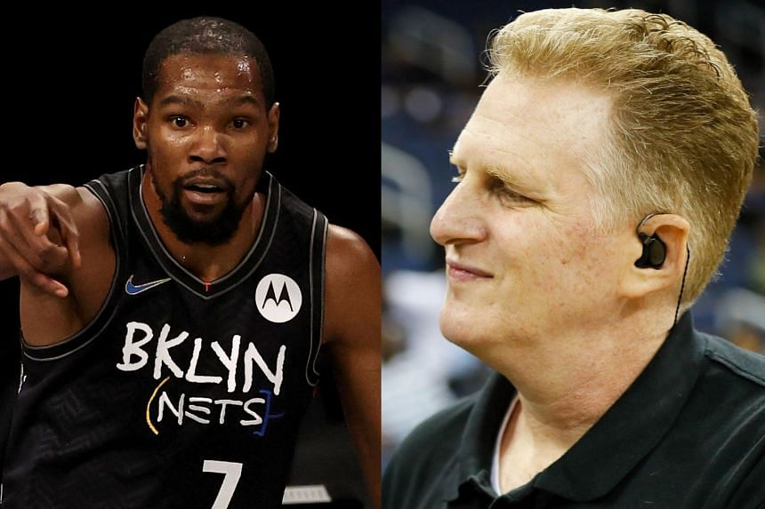 Durant's (left) messages were part of an angry private exchange with actor and comedian Michael Rapaport (right).