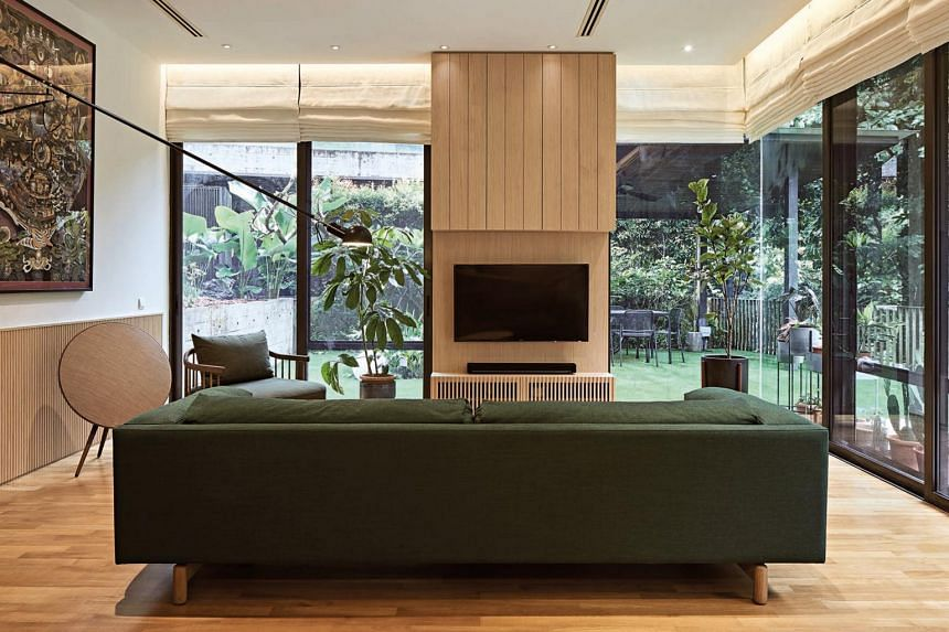 Every floor of the resale property has a view of Bukit Timah Nature Reserve.