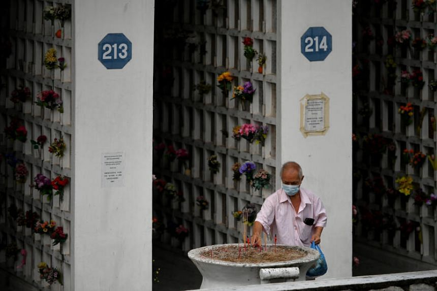 Many people did not visit the columbarium last year due to the uncertainty as Covid-19 infections rose.