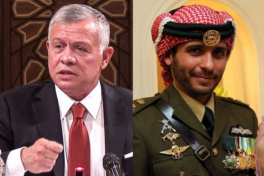 Jordan's King Abdullah (left) and his half-brother, Prince Hamza.