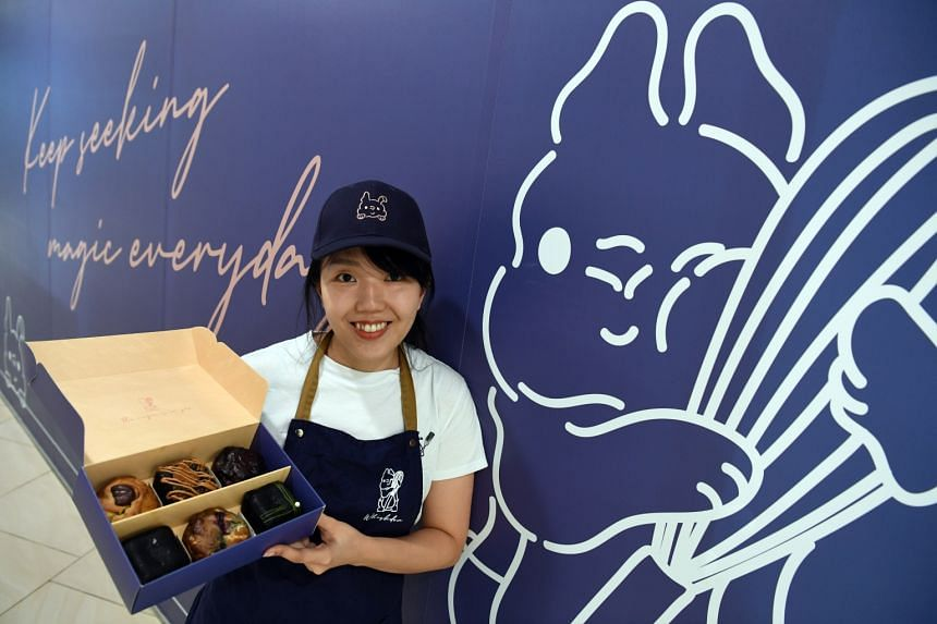 Baker Fiona Loh of Whiskdom, which is known for cookies and brownies, at Alexandra Central Mall.