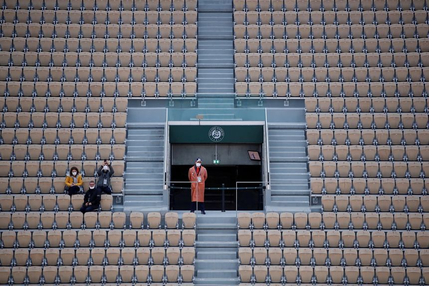 The French Open was postponed by four months in 2020 and took place in front of limited crowds.