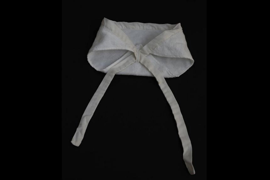In the 1960s and 1970s, seamstresses from the SGH linen room used to sew these terry-towel baby nappies that were worn by neonates in the paediatrics department. During periods of long stretches of wet weather or insufficient laundry supply, or when