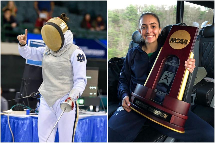 National fencer Amita Berthier won a bronze medal in the 2021 NCAA Fencing Championships' Women's Foil Individual event.
