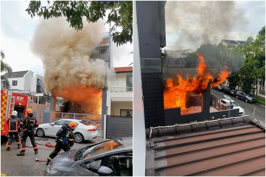 Four people evacuated the unit prior to the arrival of SCDF officers.