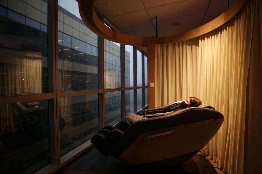 The massage enclosure.