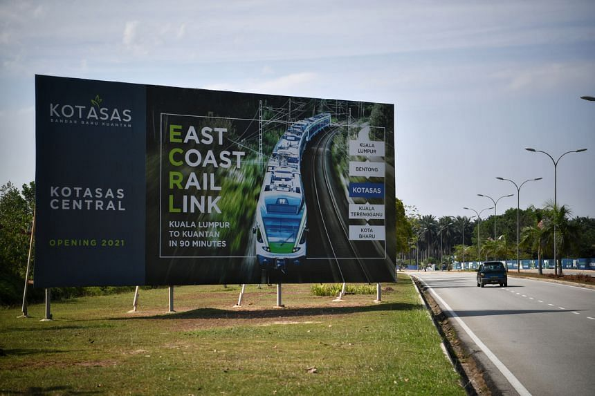 The East Coast Rail Link is 21 per cent completed.