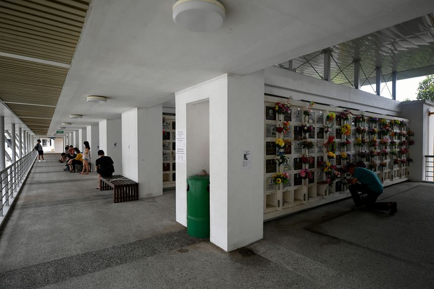 Visitors at the columbarium said the situation this year is unlike pre-pandemic times