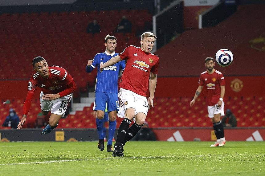 Mason Greenwood's goal, a diving header from Paul Pogba's speculative volley, in the 2-1 win over Brighton on Sunday was only his second in the Premier League in 24 appearances.
