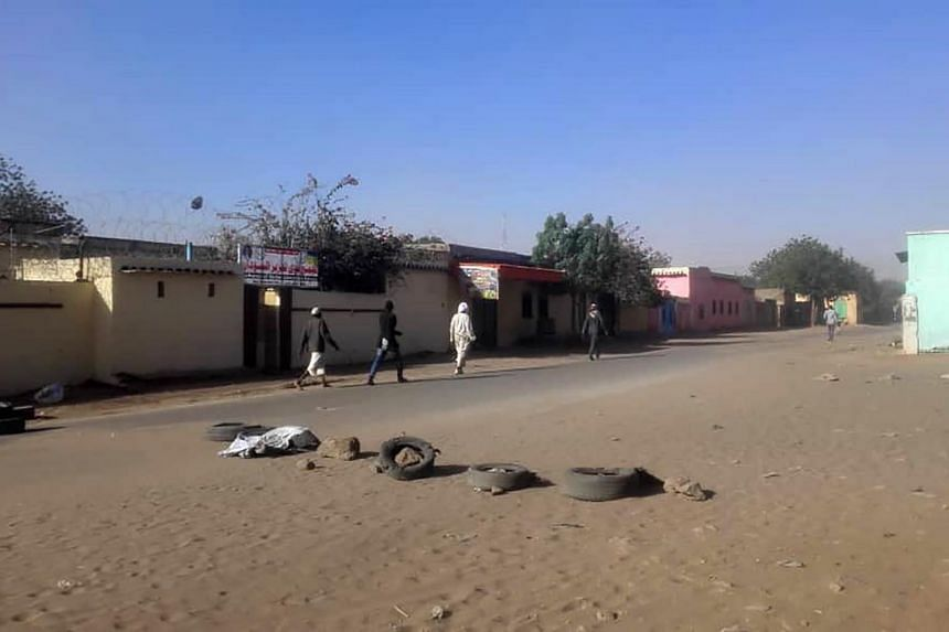A photo taken on Jan 20 shows the area in El Geneina where violence erupted between members of the Masalit and Arab tribes.