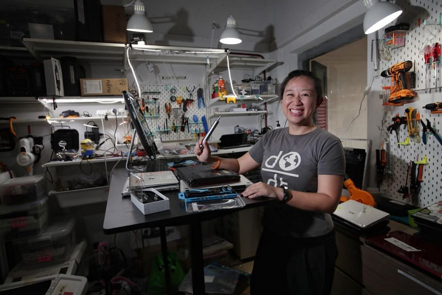 Ms Lim decided to stay on even after the circuit breaker as she knew there was still a need for refurbished laptops.