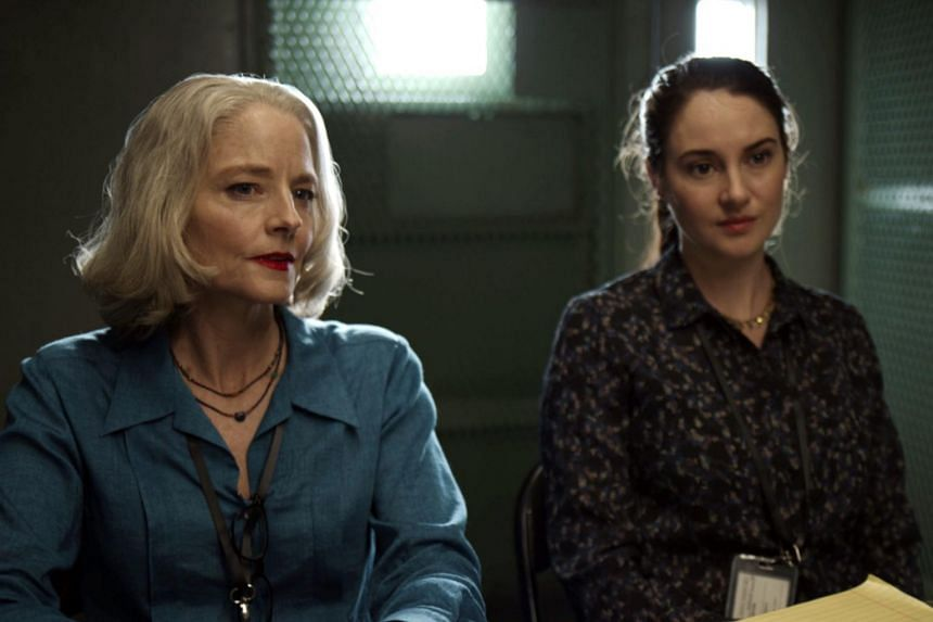 A still from the film The Mauritanian starring Jodie Foster (left) and Shailene Woodley.