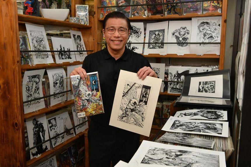 Mr Benjamin Foo's interest in comics goes back to his primary school days.