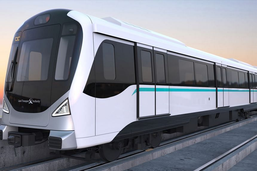 Artist impression of the trains that will serve the Jurong Region Line.