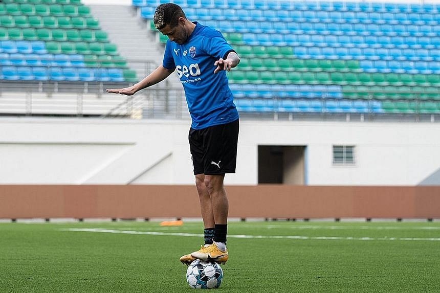 Lion City Sailors midfielder Diego Lopes has one assist from three appearances since his $2.9 million move from Rio Ave. He hopes to make a difference against Albirex, winners the last two times these sides met. PHOTO: LION CITY SAILORS