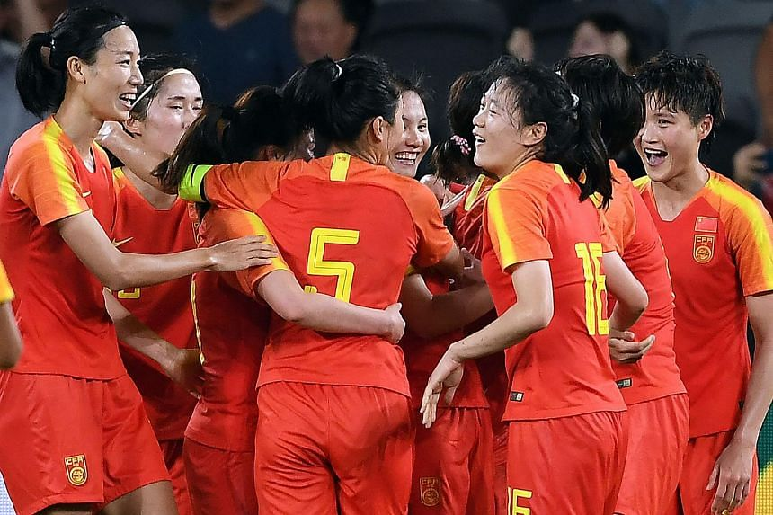 The Chinese women are now 15th in the Fifa rankings, three places above their opponents.