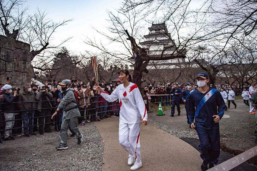 The Olympic flame began its nationwide relay on March 25 in Fukushima.