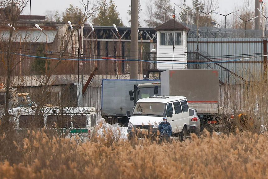 The IK-2 corrective penal colony, where Kremlin critic Alexei Navalny serves his jail term, in the town of Pokrov on April 6, 2021.