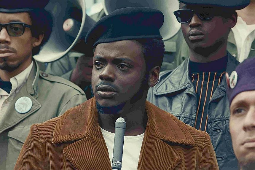 Daniel Kaluuya (centre) plays black activist Fred Hampton in Judas And The Black Messiah.