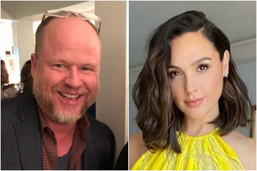 Joss Whedon (left) allegedly threatened to harm actress Gal Gadot's career while filming on the set of blockbuster Justice League.