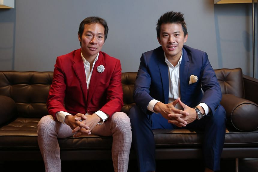 Catalist-listed Axington, formerly a professional services group, has been mired in difficulty after cousins Terence (far left) and Nelson Loh bought out the firm in July last year.