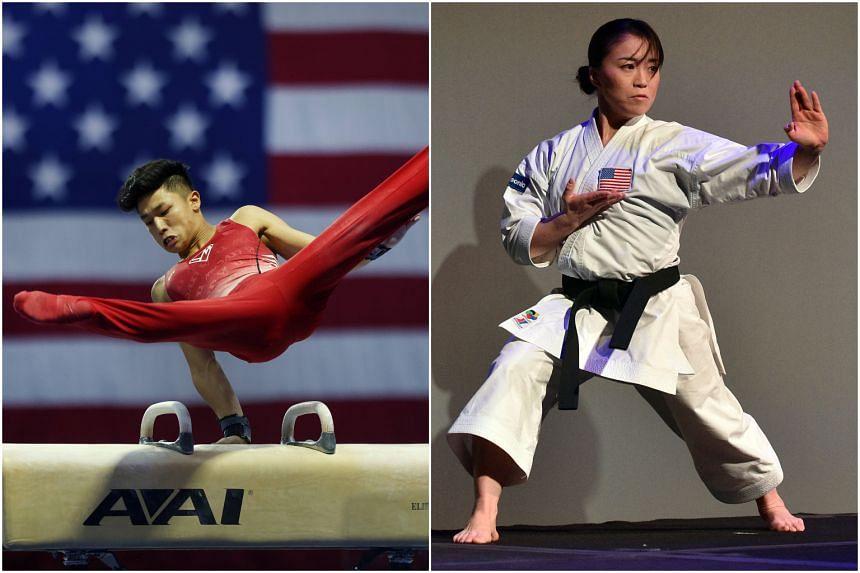Gymnast Yul Moldauer (left) and karate exponent Sakura Kokumai both detailed recent experiences of anti-Asian racism.
