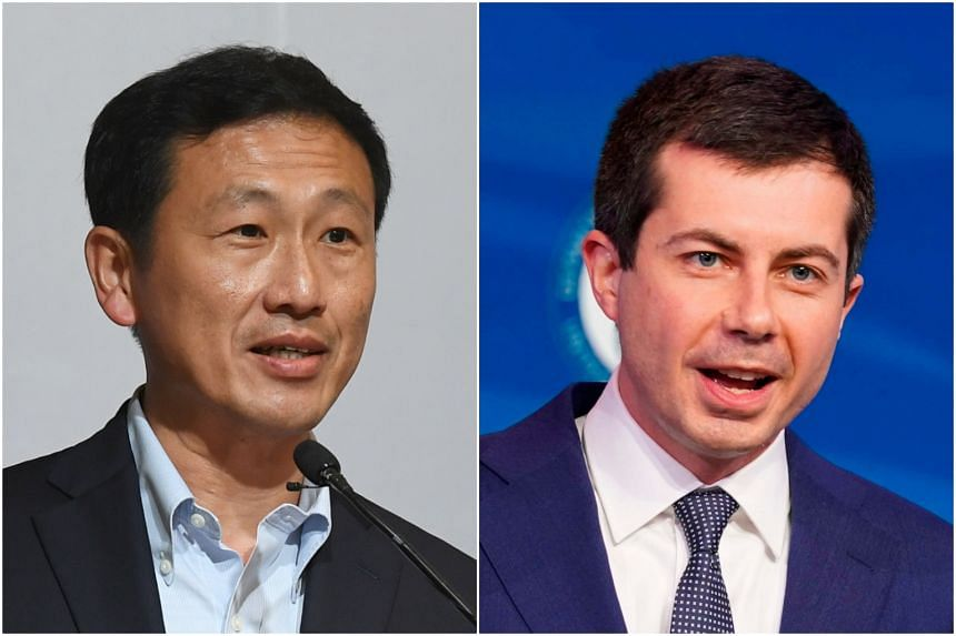 Transport Minister Ong Ye Kung and US counterpart Pete Buttigieg held an introductory virtual meeting on April 8, 2021.