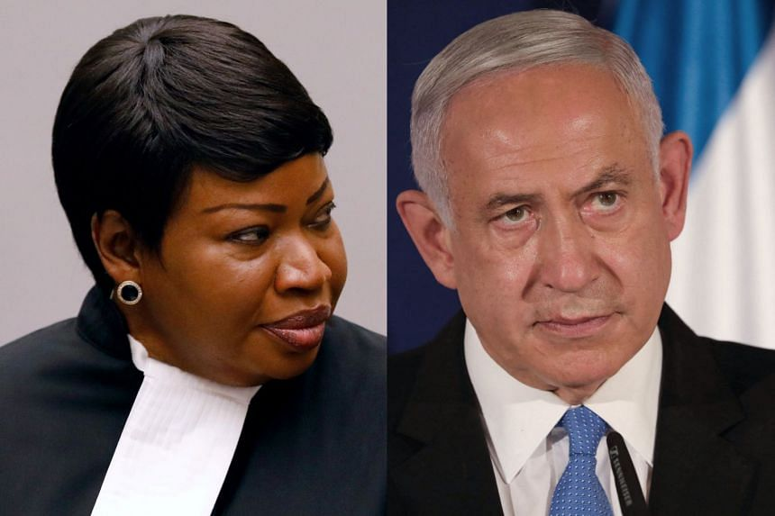 """A probe announced by ICC prosecutor Fatou Bensouda (left) angered Israeli PM Benjamin Netanyahu (right), who called it the """"essence of anti-Semitism""""."""